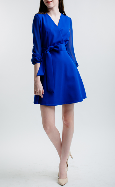 TRUE BLUE Tie Front Dress