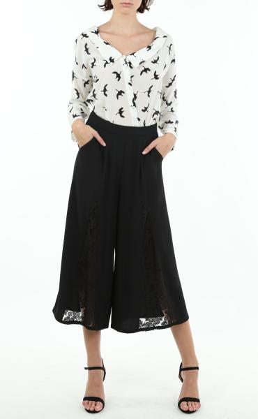 Black Swallow Silk Blouse