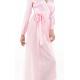 Italian Sandwashed Silk Wrap Dress in Pink