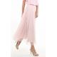 Italian Soft Mesh Skirt in Pink
