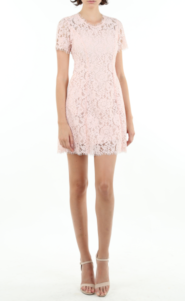 Lemonade Pink Italian Lace Dress