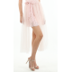 French Soft Mesh Wrap Skirt in Pink