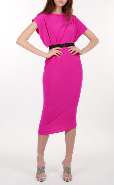 Rose Pink Draped Dress