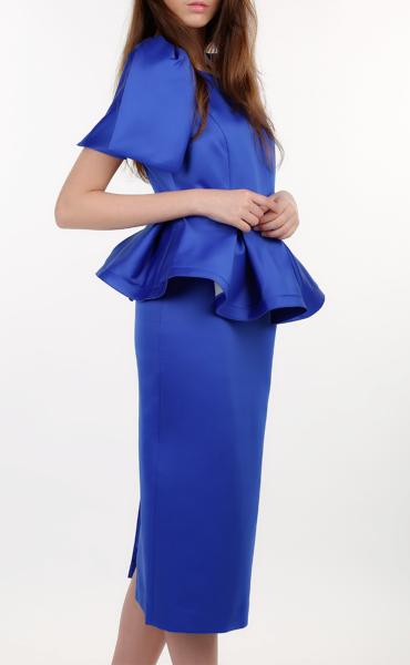 Royal Blue Shaped Blouse